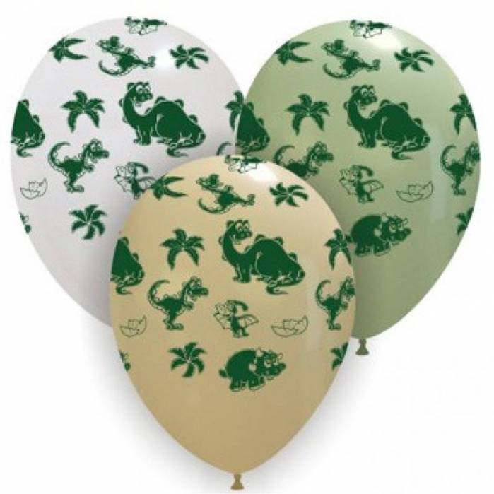 Palloncini stampa dinosauri verdi