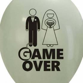 Palloncino stampa Game Over sposi