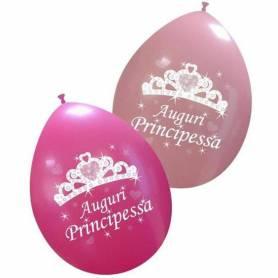 Palloncini stampa Auguri principessa