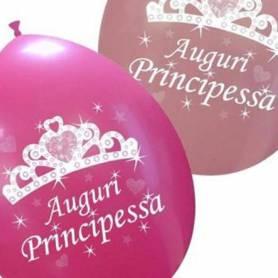 Palloncini Auguri principessa coroncina