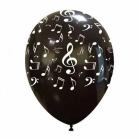 Palloncini note musicali nero