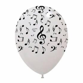 Palloncini note musicali bianco
