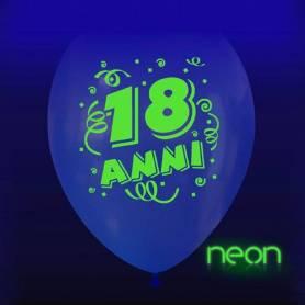 Palloncino trasparente 18 anni neon
