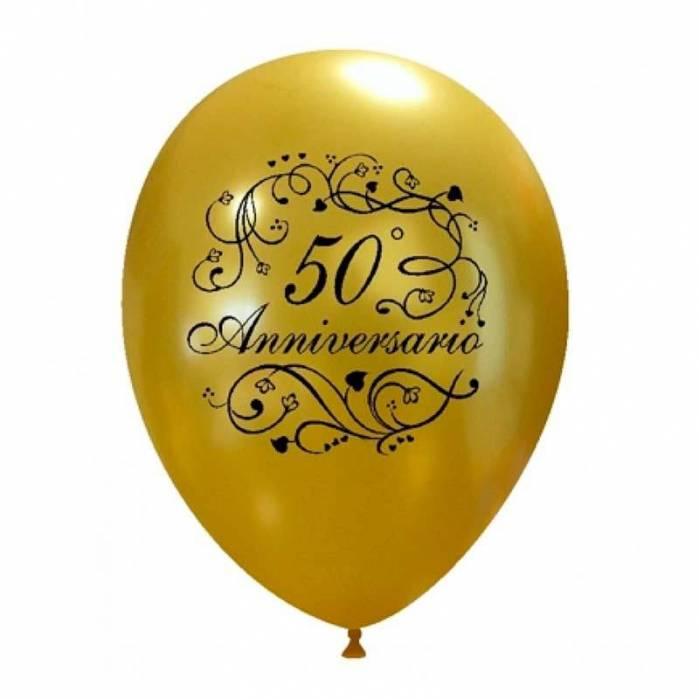 Palloncino 50 anniversario oro