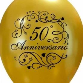 Palloncino oro stampa 50 anniversario