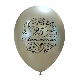 Palloncino 25 anniversario argento