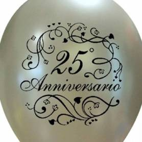 Palloncino stampa 25 anniversario argento