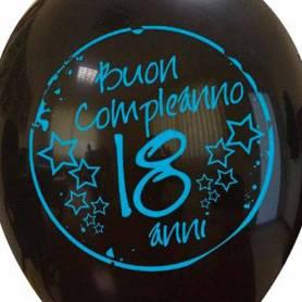 Palloncino 18 anni stampa Buon Compleanno