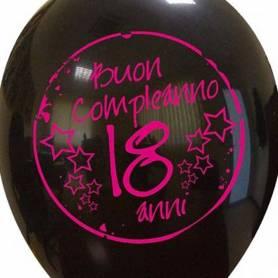 Palloncino stampa 18 anni Buon Compleanno Fucsia