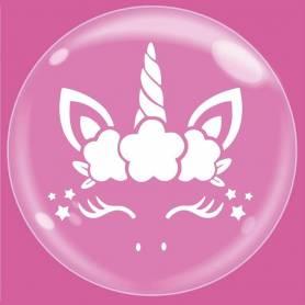 Palloncino Trasparente Bubble Party Unicorno