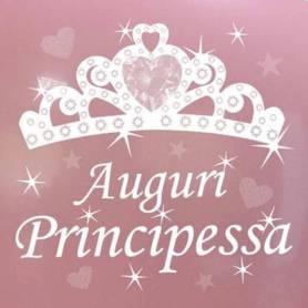 Palloncino Gigante Auguri Principessa corona