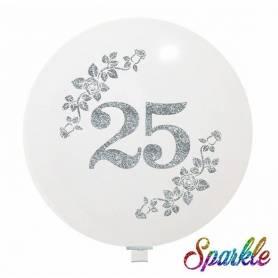 Palloncino Glitter 25 Anniversario