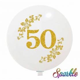 Palloncino Glitter 50 Anniversario