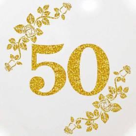 """Palloncino Glitter 50 Anniversario 32"""""""