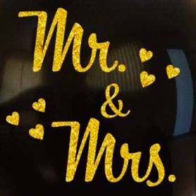 Palloncino Nero Glitter Mr & Mrs 32