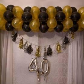 Totem di palloncini bicolore ( a scelta)