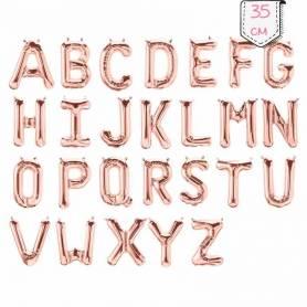 Palloncini Lettere Oro Rosa