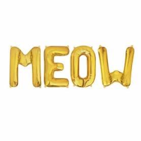 Palloncini Meow Gatto lettere