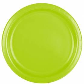 Piatti 23 cm verde mela 8 pz