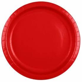 Piatti 23 cm rosso 8 pz