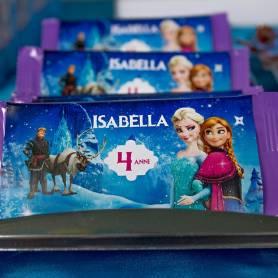 Cioccolato con etichetta personalizzata Frozen (milka)