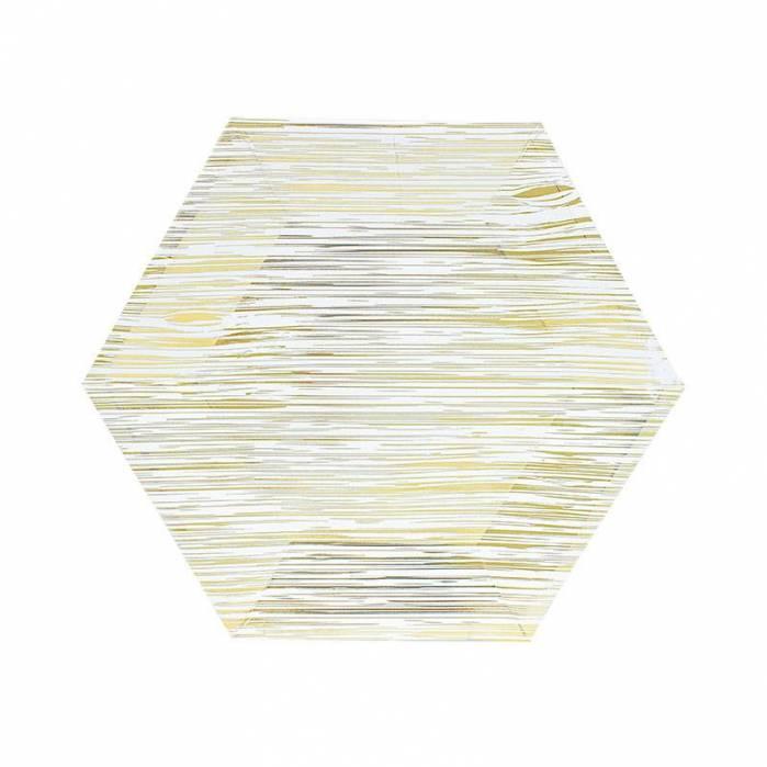 Piatti 18 cm Legno Oro