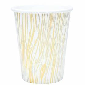 Bicchieri  carta legno oro