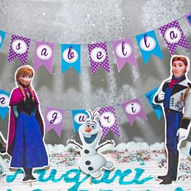 Topper personaggi Frozen sagomati per torta