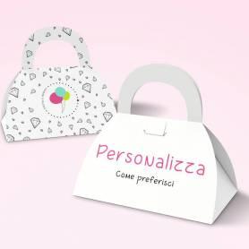 scatola personalizzata tipo borsetta