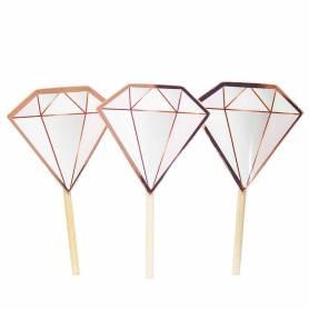 Picks Diamante oro rosa