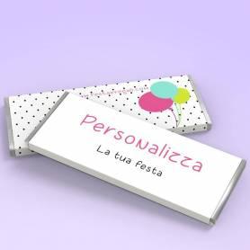 tavoletta di cioccolato completamente personalizzata