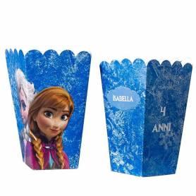 Scatola pop corn grande personalizzata Frozen