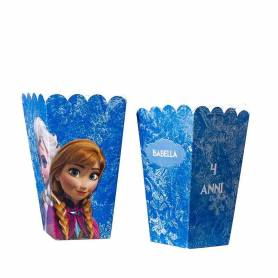 Scatola pop corn Mini personalizzata Frozen