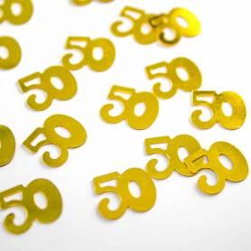 Coriandoli numero 50° Oro PVC