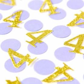 Coriandoli tondi e numero oro glitter