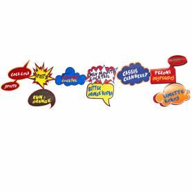 Festone nuvolette fumetto personalizzate