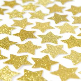 Coriandoli stelle oro glitter