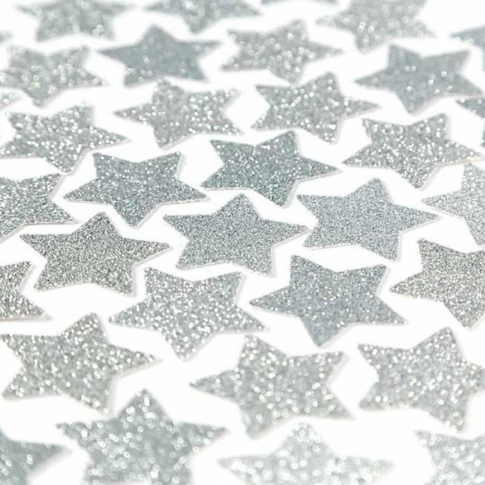Coriandoli stelle argento glitter