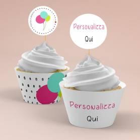 Kit cupcake wrapper  a tema