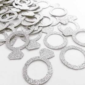anelli argento glitter