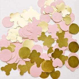 Orsetti e cuori rosa oro
