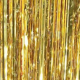 Tenda copri porta frange oro
