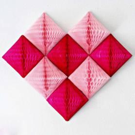 Diamanti decorativi nido d'ape cuore