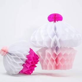 Decorazioni in carta muffin nido d'ape