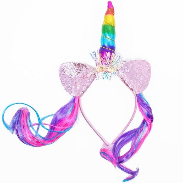 Cerchietto Unicorno Capelli rainbow