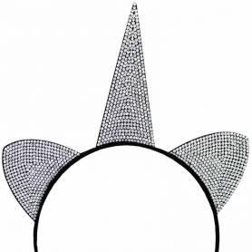 Cerchietto unicorno orecchie nero