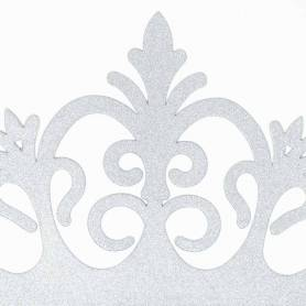 Corona argento glitter