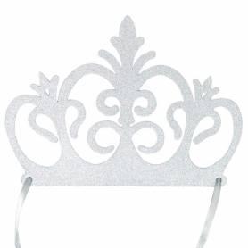 Corona fascia argento glitter