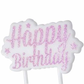 Candela happy birthday glitter