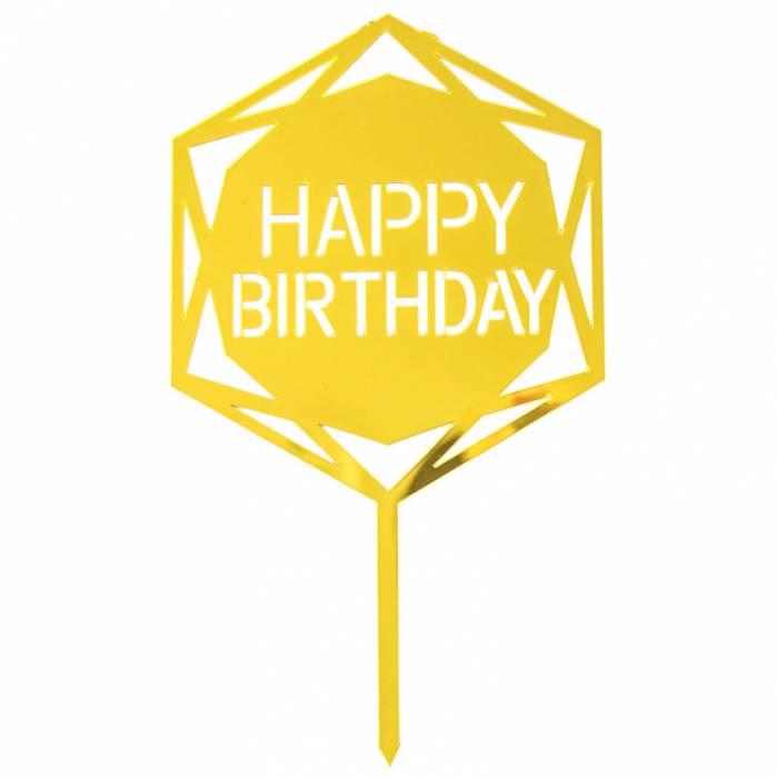 Topper plexiglass Happy Birthday